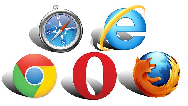 web design webových prohlížečů